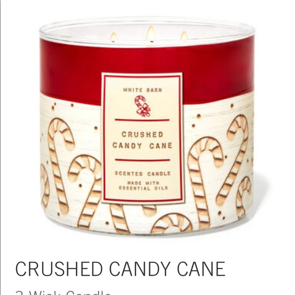 Crushed candy cane 3 wick candle